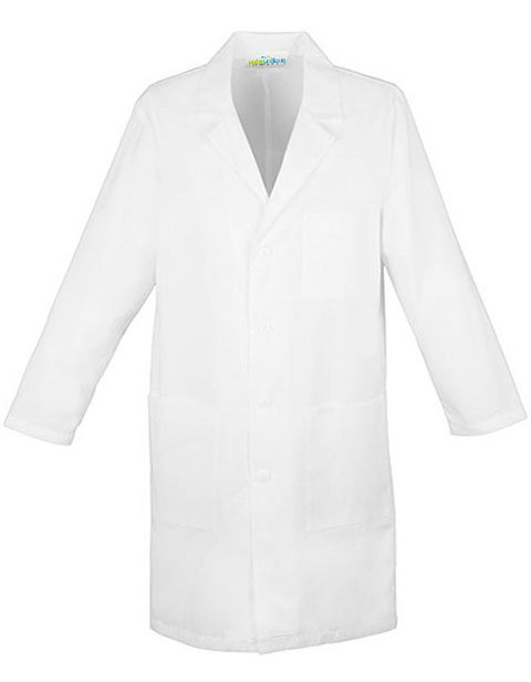 PU Made To Order Unisex Snap Front Three-Quarter Sleeves Lab Coat
