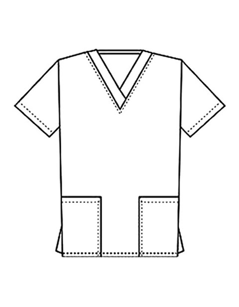 PU Made To Order Women's Two Pocket V-Neck Basic Nurse Scrub Top