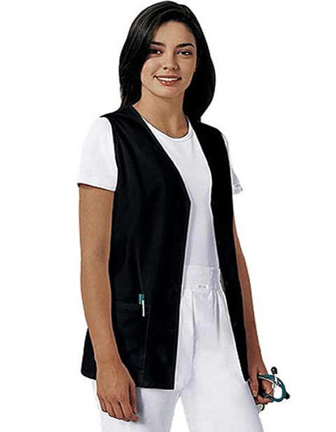 PU Made To Order Unisex Button Front Uniform Vest