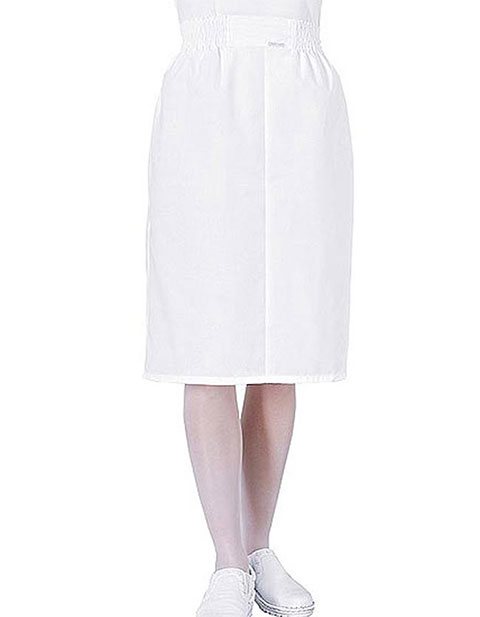 PU Made To Order Women's Two Pocket Elastic Waist Nurse Skirt