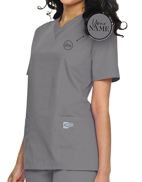 Women's Double Pocket V-Neck Nursing Top