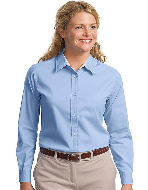 Sanmar Port Authority Ladies Long Sleeve Easy Care T-Shirt
