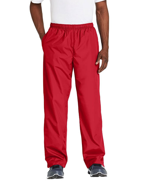 Sanmar Sport-Tek Mens Three Pocket Straight Leg Wind Pants