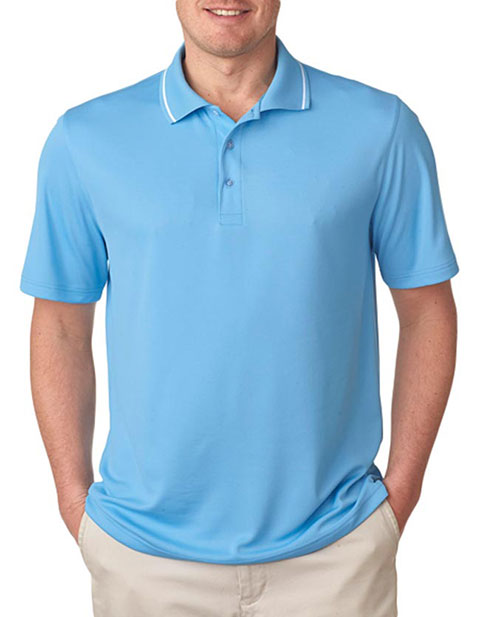 UltraClub Men's Polo with Tipped Collar