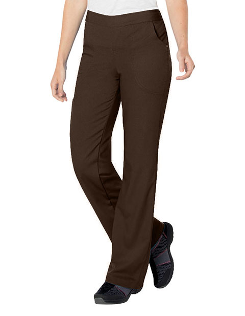 Urbane Ultimate Women's Bailey Cargo Elastic Waistband Medical Scrub Petite Pants