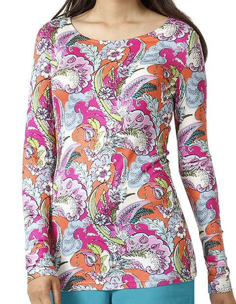 Vera Bradley Women's Long Sleeve Knit Layer Autumn Leaves Print Tees