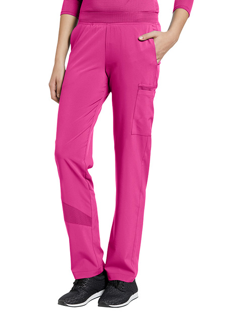 White Cross Fit Women's Stretch Elastic Waistband Pant