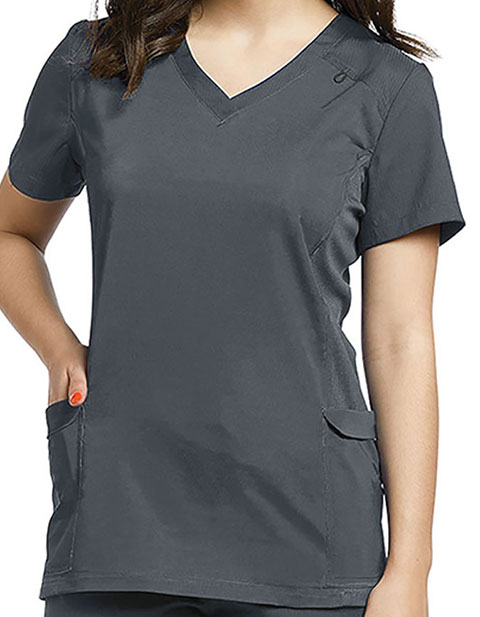 White Cross FIT Women's Modern V neck Scrub Top