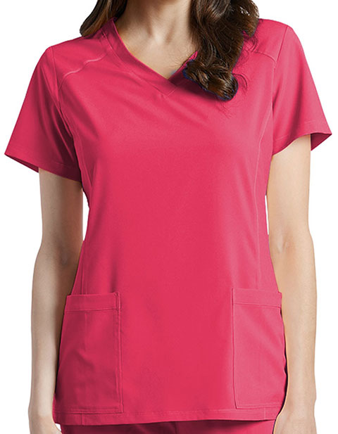 White Cross Fit Women's 785 V-Neck Solid Scrub Top