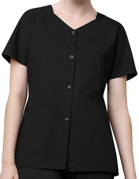 WonderWink WonderWork Women's Short Sleeve Snap Jacket