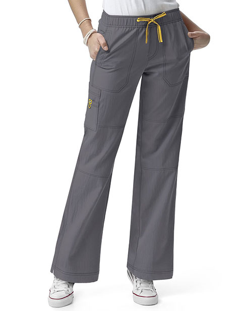 Wink Scrubs Women Tall Sporty Cargo Solid Nursing Pants