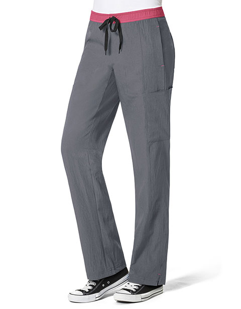 Wonderwink Four-Stretch Women's Straight Leg Cargo Petite Pant