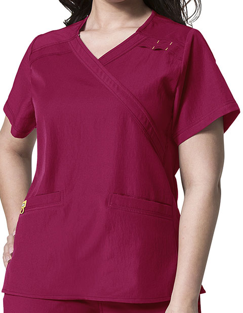 Wink Scrubs WonderWink Plus Mock Wrap Nursing Scrub Top