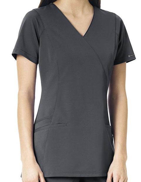 WonderWink HP Women's Axis Mock Wrap Scrub Top