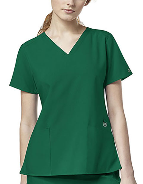 WonderWink W123 Women's Flex Back Solid Scrub Top