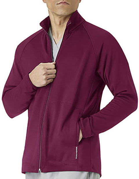 WonderWink Men's Fleece Solid Scrub Jacket