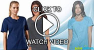 cherokee workwear fashion scrub tops video